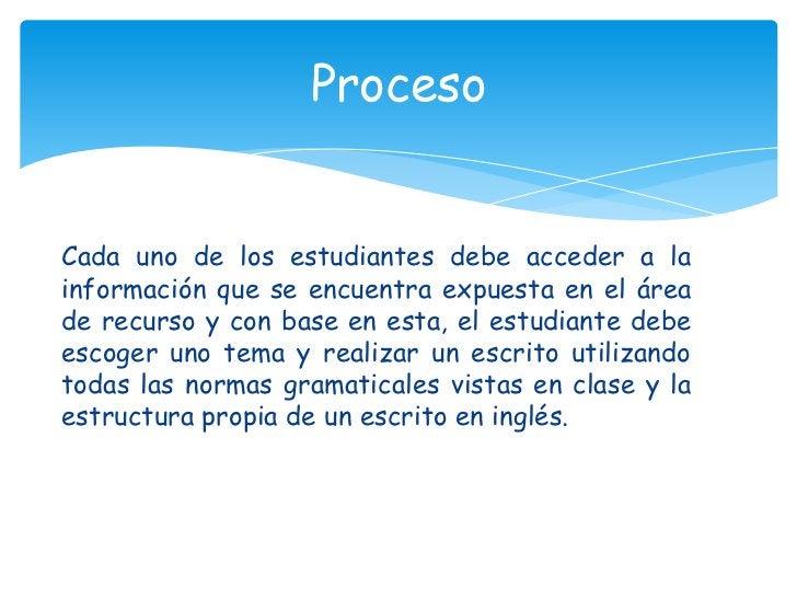 Cada uno de los estudiantes debe acceder a la información que se encuentra expuesta en el área de recurso y con base en es...