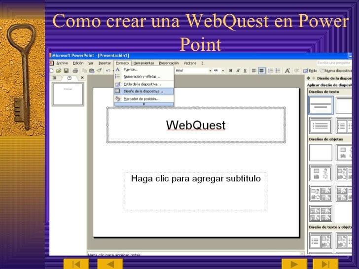Tutorial De Webquest
