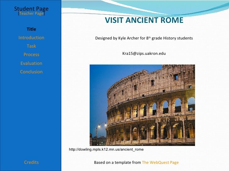 Student Page [Teacher Page]                                      VISIT ANCIENT ROME     Title Introduction                ...