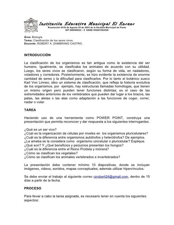 Institución Educativa Municipal El Encano               Resolución 0338 de Agosto 26 de 2003 de la Alcaldía Municipal de P...