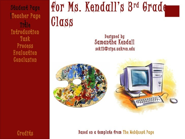 Student Page    for Ms. Kendall's 3 rd Grade[Teacher Page       ]     Title      Class Introduction                       ...