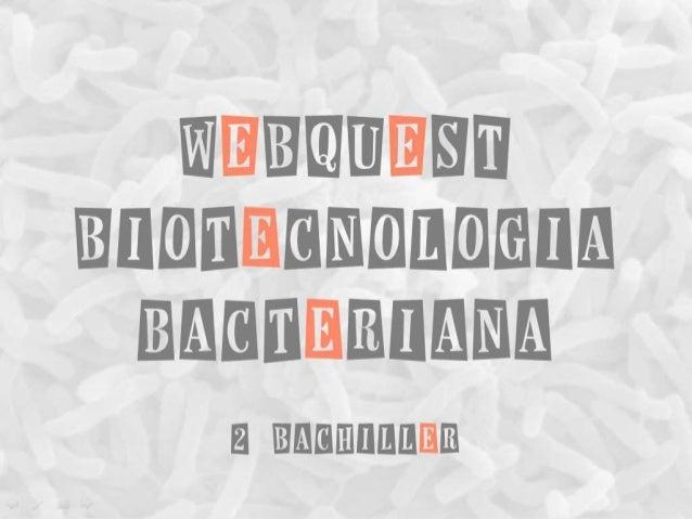 WEBQUEST Biotecnologia bacteriana 2 Bachiller