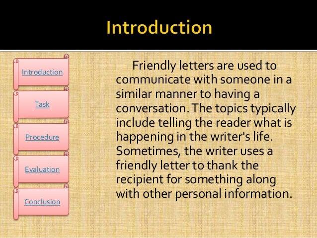 webquest on friendly letter