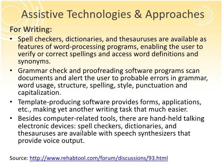 Assistive technology essay