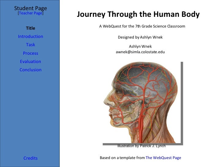 Journey Through the Human Body Student Page Title Introduction Task Process Evaluation Conclusion Credits [ Teacher Page ]...