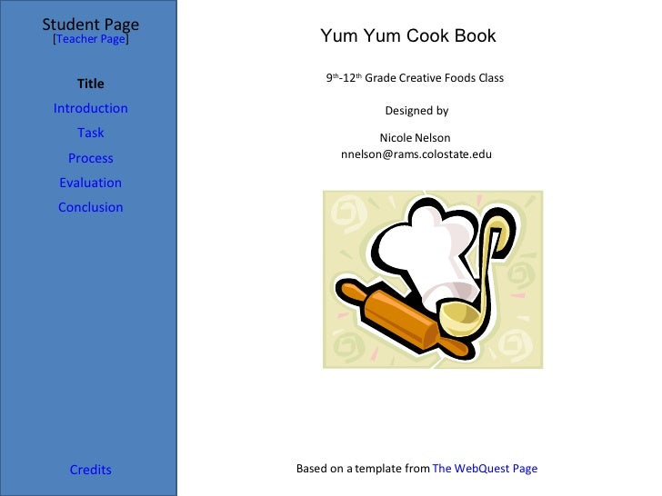 Cookbook - Writing a cookbook template