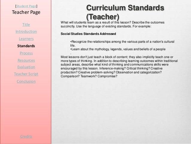 [Student Page]Teacher Page                                    Curriculum Standards                                    (Tea...