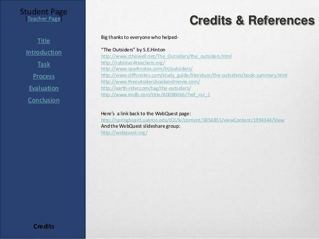 Student Page [Teacher Page]                                                        Credits & References                  B...