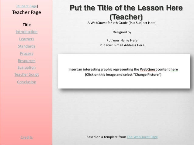 [Student Page]Teacher Page                  Put the Title of the Lesson Here                              (Teacher)       ...