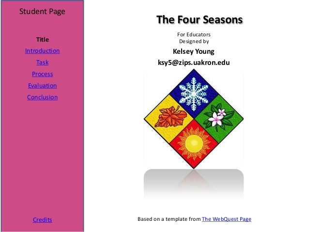 Student Page                      The Four Seasons                              For Educators    Title                    ...