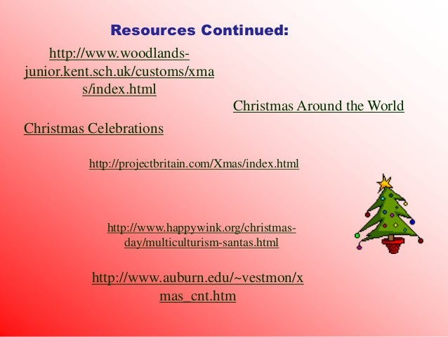 Webquest christmas around the world