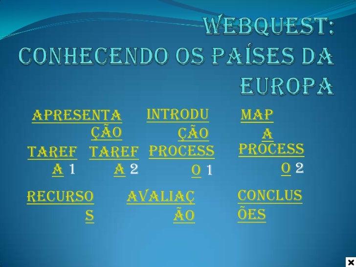 Apresenta   Introdu   Map      ção       ção     aTaref Taref Process   Process  a1    a2       o1       o2Recurso   Avali...