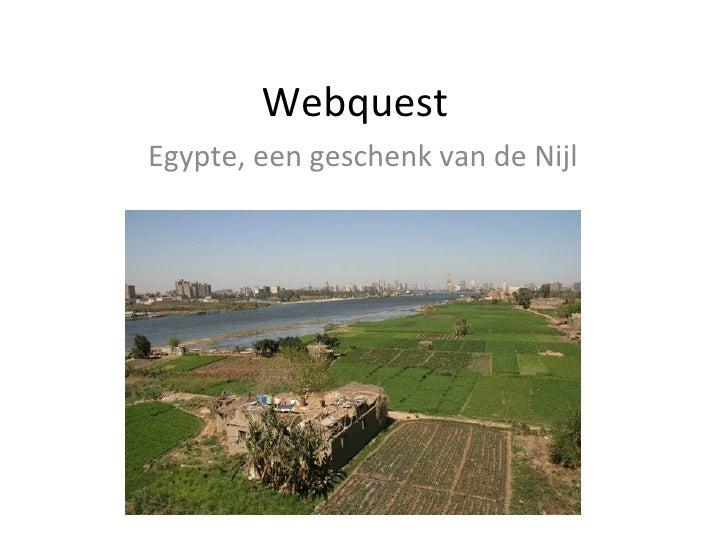 Webquest Egypte, een geschenk van de Nijl