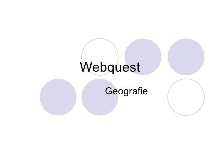 Webquest Geografie