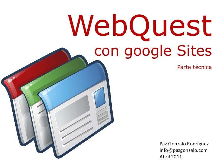 webquest google sites
