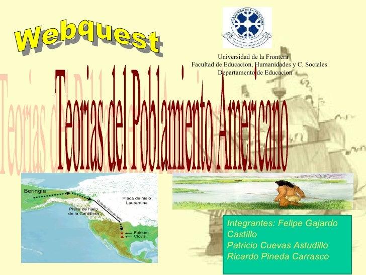Universidad de la FronteraFacultad de Educacion, Humanidades y C. Sociales          Departamento de Educacion            I...
