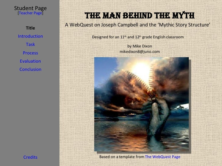 The Man behind the Myth Student Page Title Introduction Task Process Evaluation Conclusion Credits [ Teacher Page ] Design...