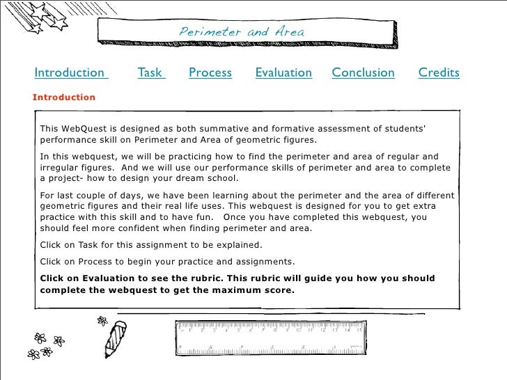 Perimeter and AreaIntroduction          Task        Process        Evaluation      Conclusion         CreditsIntroduction ...