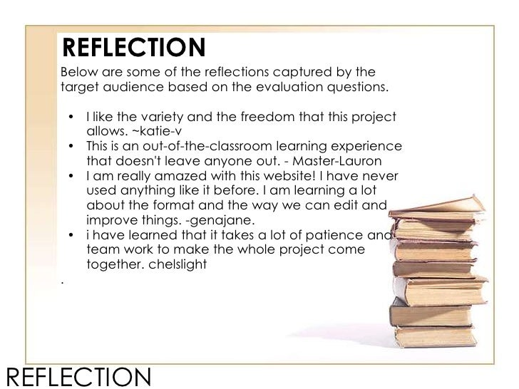 reflection of a webquest Transformation webquest: today you will be learning about transformations  rotation, reflection and dilation 7.