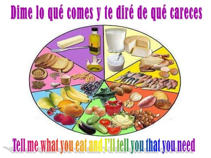 Dime lo qué comes y te diré de qué careces