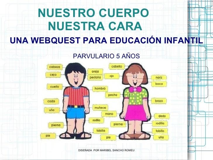 NUESTRO CUERPO      NUESTRA CARAUNA WEBQUEST PARA EDUCACIÓN INFANTIL           PARVULARIO 5 AÑOS            DISEÑADA POR M...