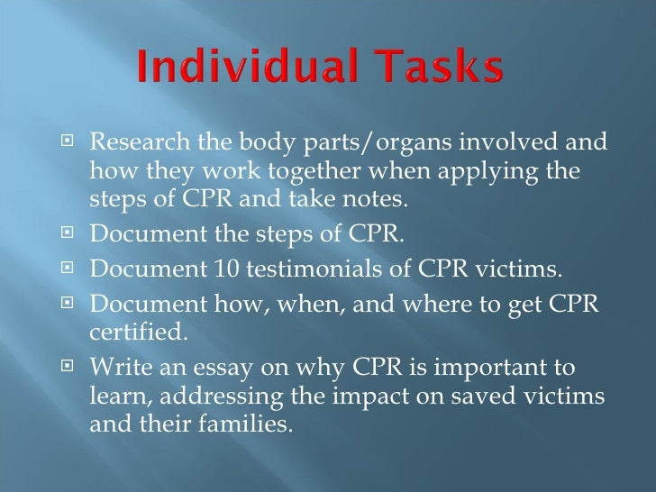 The importance of learning cpr essay