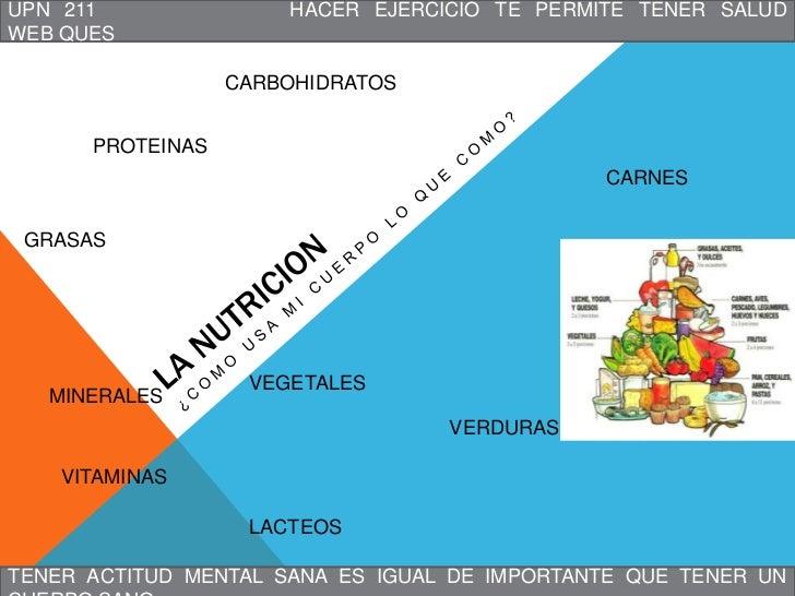 UPN 211               HACER EJERCICIO TE PERMITE TENER SALUDWEB QUES                  CARBOHIDRATOS      PROTEINAS        ...