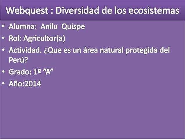 Webquest anilu 1ºa diversidad de los ecosistemas