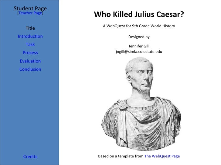 julius caesar evaluation An excerpt from caesar: a life in western culture by maria wyke also available on web site: online catalogs, secure online ordering, excerpts from new books sign up.