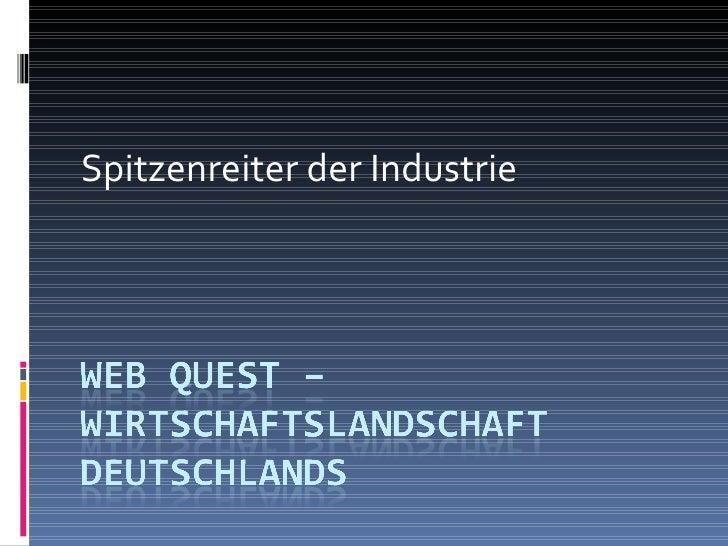 Spitzenreiter der Industrie