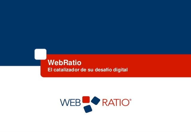 Presentación oficial WebRatio srl
