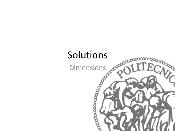SolutionsDimensions
