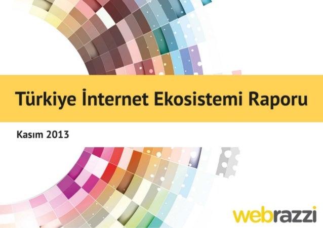 Webrazzi Türkiye İnternet Ekosistemi Raporu v1.1 Slide 1