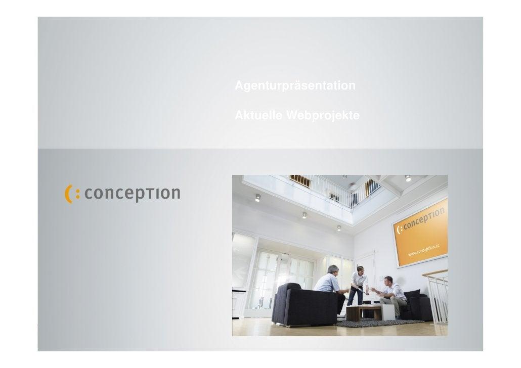 Agenturpräsentation                                                                Aktuelle Webprojekte     Agenturpräsent...