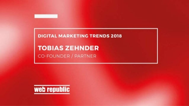Thought Leaders @ Webrepublic: Innovation Outlook by Tobias Zehnder – Co-Founder / Partner Slide 1