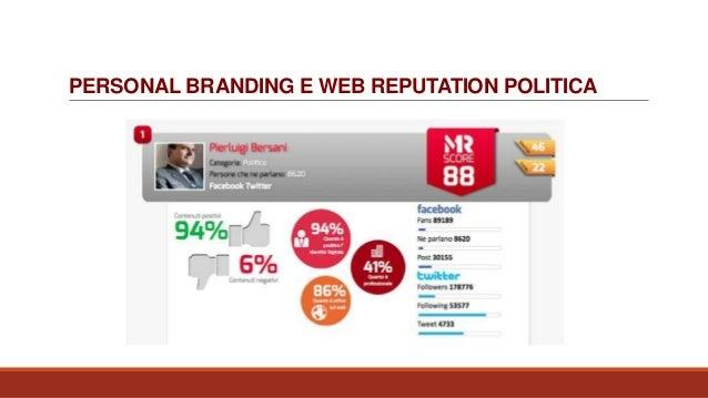 PERSONAL BRANDING E WEB REPUTATION POLITICA