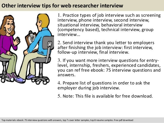 free pdf download 11 other interview tips for web researcher - Web Researcher