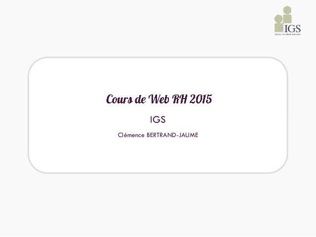 IGS Clémence BERTRAND-JAUME