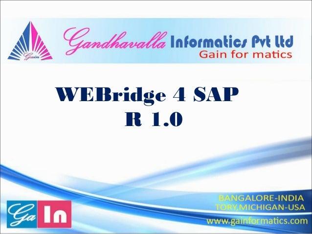 WEBridge 4 SAP R 1.0
