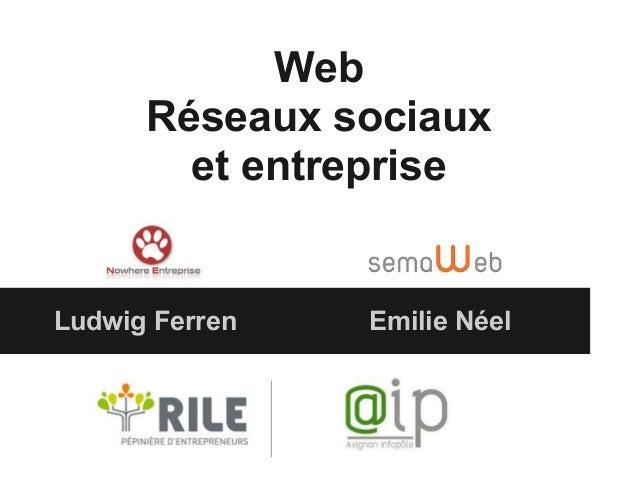 Web Réseaux sociaux et entreprise Ludwig Ferren Emilie Néel