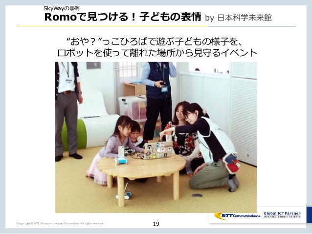 """Copyright © NTT Communications Corporation. All right reserved. Romo by Tm t"""" X n 19 SkyWay"""