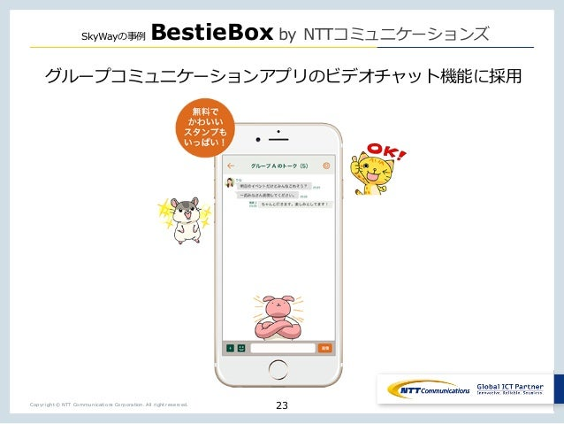 Copyright © NTT Communications Corporation. All right reserved. SkyWay BestieBox by NTT _ _ _ 23