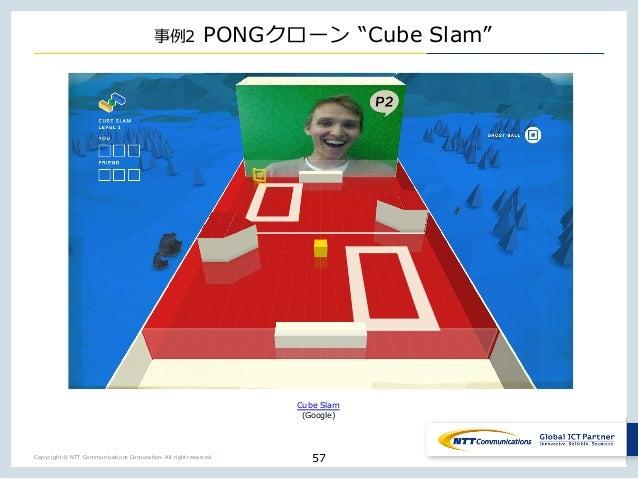 "Copyright © NTT Communications Corporation. All right reserved. 2 PONG _ ""Cube Slam"" 57 Cube Slam (Google)"