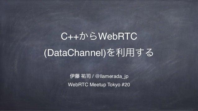 C++ WebRTC (DataChannel) / @llamerada_jp WebRTC Meetup Tokyo #20