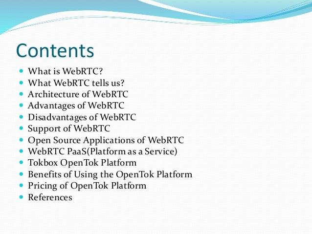 Webrtc and tokbox