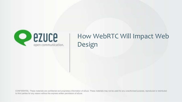 How WebRTC Will Impact WebDesign