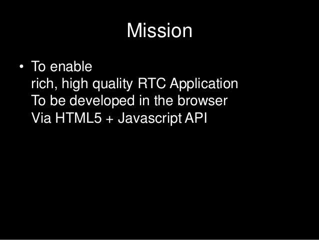 Web rtc summary Slide 3
