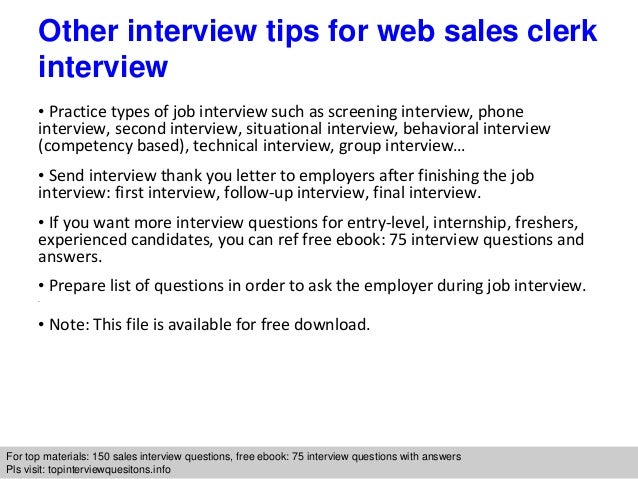 10 sales clerk jobs