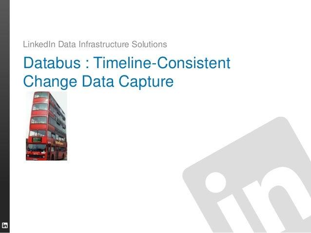 Databus : Timeline-Consistent Change Data Capture LinkedIn Data Infrastructure Solutions
