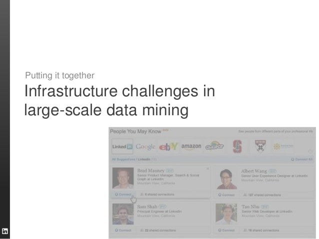 Infrastructure challenges in large-scale data mining Putting it together